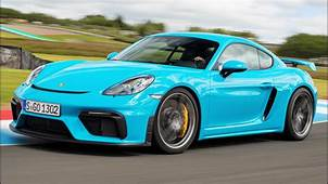 2020 Blue Porsche 718 Cayman GT4  Pure Driver's Car YouTube