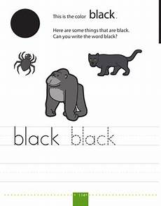 writing colors black worksheet education