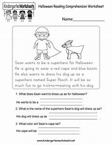 halloween reading comprehension worksheet free kindergarten holiday worksheet for kids