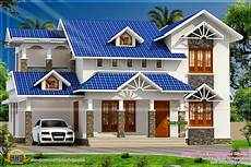 kerala home design and floor plans sloped roof