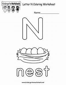 worksheets on letter n 24156 letter n coloring worksheet for preschoolers or kindergarteners you can print or use