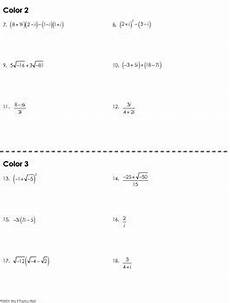 complex color by number worksheets 16108 complex numbers coloring worksheet by mrs e teaches math tpt