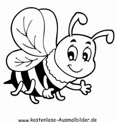 Bienen Comic Malvorlagen Ausmalbild Biene Zum Ausdrucken