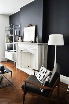 Peinture Bois Interieur Gris Anthracite Le Gris Anthracite En 45 Photos D Int 233 Rieur Salon Blanc