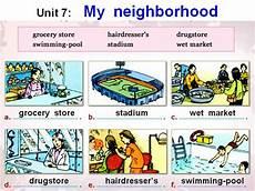 places in my neighbourhood worksheets 16015 8 unit 7 my neighborhood authorstream