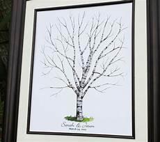 drawn wedding tree birch tree wedding guest book alternative watercolor wedding
