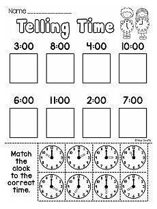telling time worksheet for kindergarten 3585 grade math unit 15 telling time with images grade math time worksheets math time