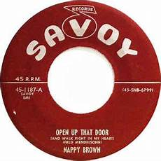 Open Up That Door And Walk Right In My House Lyrics | nappy brown open up that door and walk right in my heart pleasin you 1956 vinyl discogs