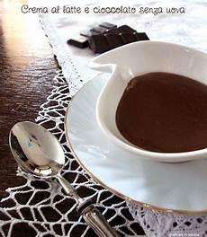 crema al cioccolato senza uova e latte crema al latte e cioccolato senza uova