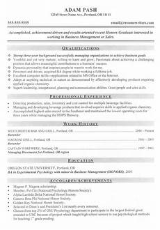 good mba business management or sales candidate resume first resume resume good