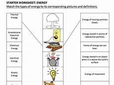 types of energy worksheet ks3 types of energy starter activity by smkso teaching
