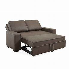 Deco In Canape 3 Places Convertible Marron