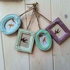 lovely hanging mini photo frames colourful shabby