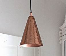 hammered copper pendant light by the forest co notonthehighstreet com