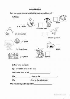 20 free esl habitat worksheets