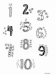 Zahlen Ausmalbilder Bis 10 Ausmalbild Zahlen 1 10 Freebie F 252 R Vorschulkinder