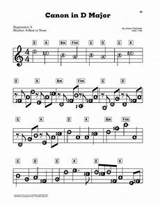 canon in d sheet music johann pachelbel e z play today