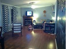 living room black and white chevron curtains walmart gray paint glidden quot pebble gray quot my