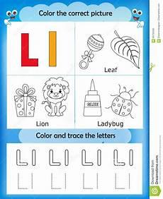letter l worksheets for preschoolers 23200 alphabet learning and color letter l stock illustration illustration of alphabet practise
