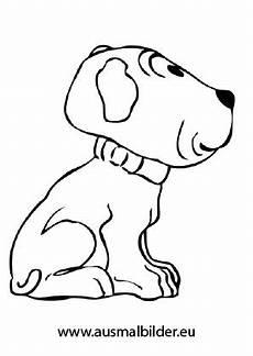 ausmalbilder sitzende welpe hunde malvorlagen