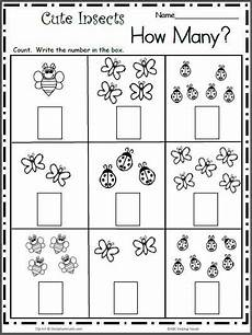 count the cute insects free math worksheet for k kindergarten math worksheets free math