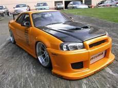 Nissan Gtr R32 Orange - nissan skyline r34 gt aileron et capot carbon r autoart