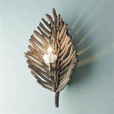 driftwood leaf wall sconce driftwood l driftwood crafts driftwood projects