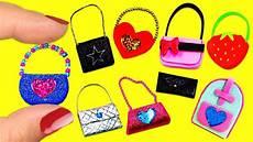10 diferentes modelos de carteras y bolsos en miniatura