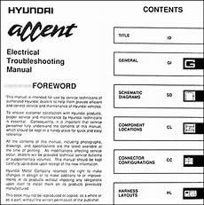 hyundai accent 1995 fuse box 1995 hyundai accent electrical troubleshooting manual original