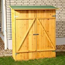 Kleiner Geräteschuppen Holz - gartenschrank ger 228 tehaus ger 228 teschuppen werkstattschrank