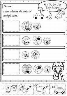 australian money activity worksheets clothes and toy