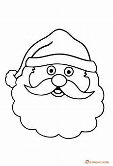 santa claus printable coloring pages for