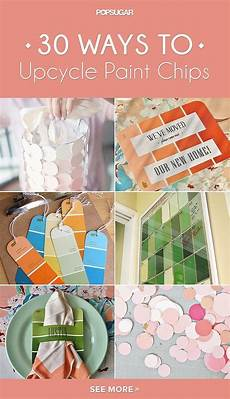 33 awesome ways to upcycle paint chips paint chip art paint sle cards paint chip cards
