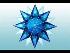 diy 16 zackiger blauer aus transparentpapier