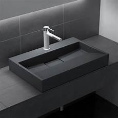 Design Gussmarmor Mineralguss Aufsatzwaschbecken