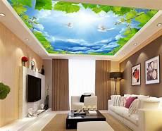 Plafond Tendu Alyos Plafond Tendu Imprim 233 Personnalis 233 Le Ciel Bleu Avec Les