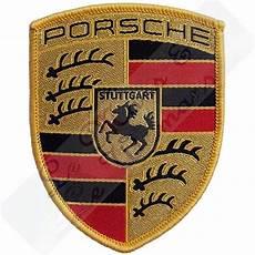 original porsche crest embroidered cloth emblem badge