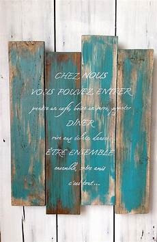 peinture effet vieilli panel wood personalized wall decor painting pallet wood