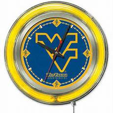 clock 15 quot dia university of kentucky quot uk quot logo neon clock wall clock logo wall clock clocks time clocks clocks west virginia university