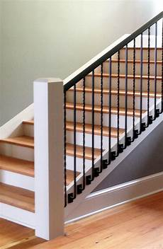 custom metal handrail system with side balusters