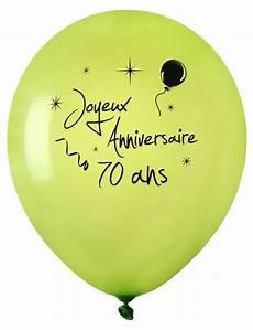 acheter ballon joyeux anniversaire vert anis 70 ans x 8