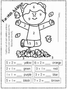 addition coloring worksheets for grade 1 12972 addition freebie kindergarten colors learning activities math