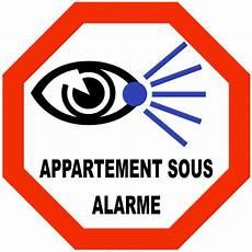 prix alarme appartement autocollant appartement sous alarme en vinyle imprim 233