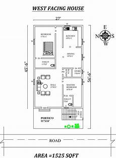 west facing house plan as per vastu 27 x56 6 quot marvelous 2bhk west facing house plan as per
