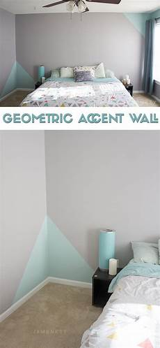 geometric accent wall bedroom wall room decor accent wall bedroom
