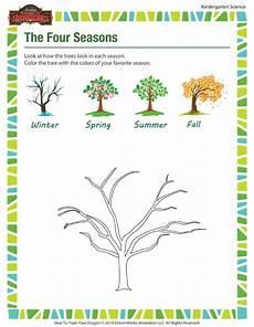 seasons worksheet for kindergarten 14884 the four seasons kindergarten science worksheets sod
