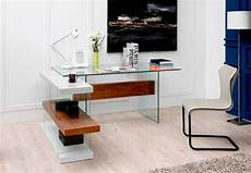modern desk furniture home office white and walnut floating office desk vg001 desks
