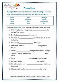 grammar exercises for grade 7 19266 grade 3 grammar topic 17 prepositions worksheets lets knowledge preposition worksheets