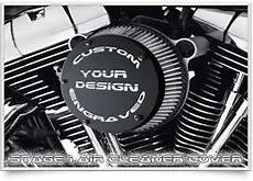 harley davidson stage 1 air cleaner cover custom engraved
