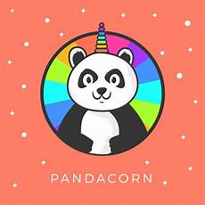 Malvorlagen Unicorn Panda Flache Nette Panda Unicorn Wannabe Vektor Clipart